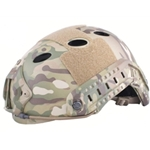 Bump Helmet with Shroud and Side Rails