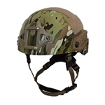 Ballistic Warrior Helmet with Shroud and Side Rails
